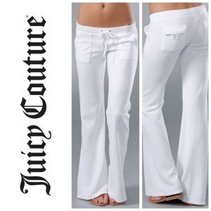 Juicy Couture white terry pants